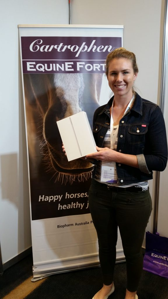 Hannah Hopkins, Newcastle Equine Centre, Winner, iPad, Cartrophen, Cartrophen Equine Forte, BainFallon